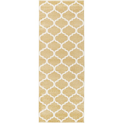 (Brooke Wheat and Cream Transitional Area Rug 2'7