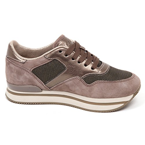Shoe Donna tortora Woman Scarpe scuro Scuro Hogan H222 E4294 Tortora Sneaker BqRwH