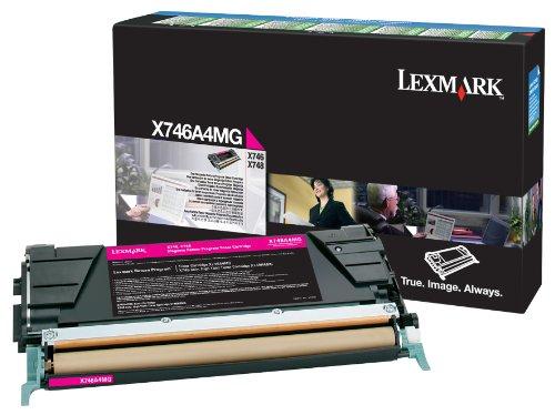 Lexmark Magenta Return Program Toner Cartridge, 7000 Yield (X746A1MG)