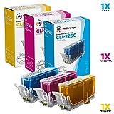 LD Compatible Canon CLI-226XL Set of 3 Inkjet Cartridges: 1 Cyan CLI226C, 1 Magenta CLI226M and 1 CLI226Y Yellow for PIXMA MG5320, MG8120, MG8220, MG6120, iP4820 Printers