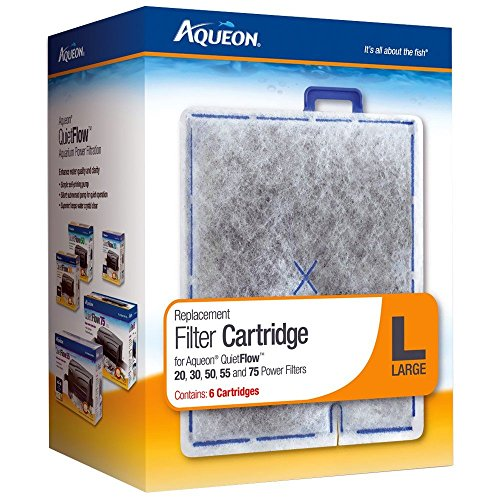 Aqueon Filter Cartridge, Large, 6-Pack