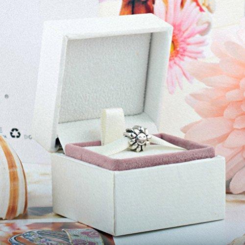 TAOTAOHAS Charms Beads Perles pendentif, en argent 925/1000 sterling, [Sourire Fleur] fit européen Bracelets Charme Breloques