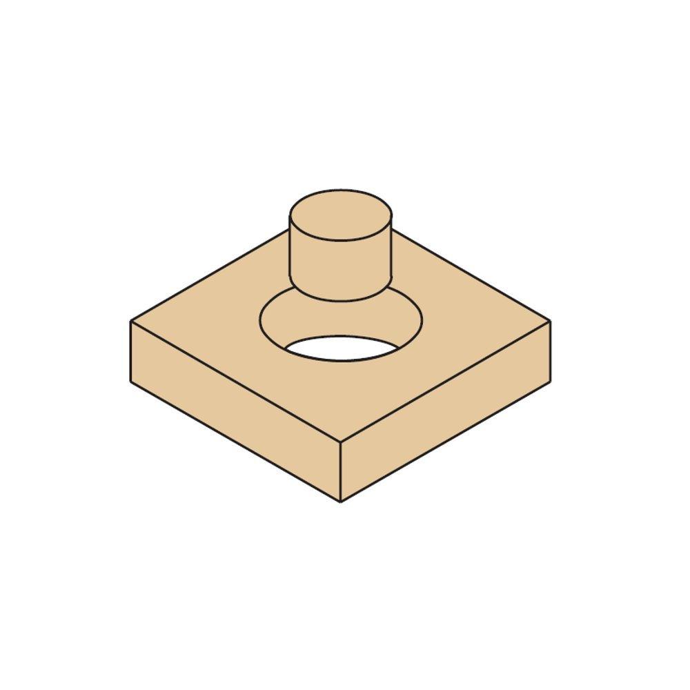 CMT 529.317.31 Plug Cutter, 1-1/4-Inch Minor Diameter, 1-19/32-Inch Diameter, 1/2-Inch Shank