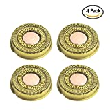 4pcs Replacement Blade Heads for Finishing Touch Flawless Legs Women Hair Remover (4pcs Gold)