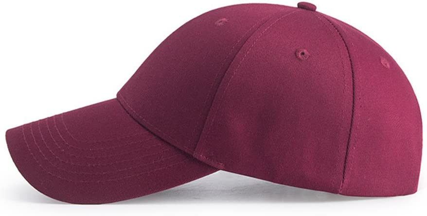 Classic 6 Panel Adjustable Sport Casual Sun Visor Hat HGDGears Plain Baseball Cap Snapback for Men and Women