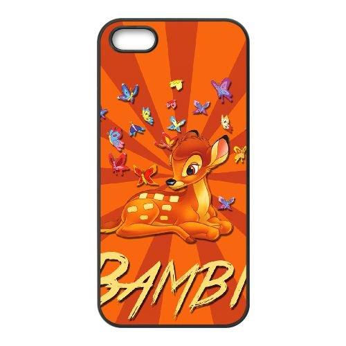 Bambi 023 coque iPhone 4 4s cellulaire cas coque de téléphone cas téléphone cellulaire noir couvercle EOKXLLNCD26310