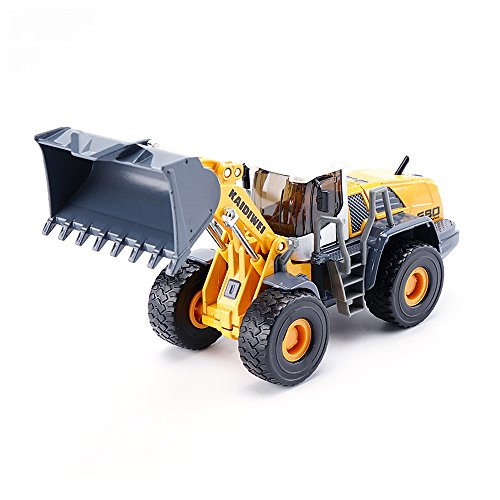 50 Diecast Vehicle (KDW 1/50 Scale Die-Cast Four Wheel Loader Truck Toy Alloy Construction Equipment Models)