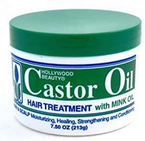 Hollywood Beauty Castor Oil Hair Treatment with Mink Oil, 7.5 Ounce