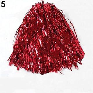 VGEBY1 6pcs Cheerleading Pompons//Pompons Girl Anneau,7 Couleurs Pom Pom Girl Cheerleader Jouet Violet