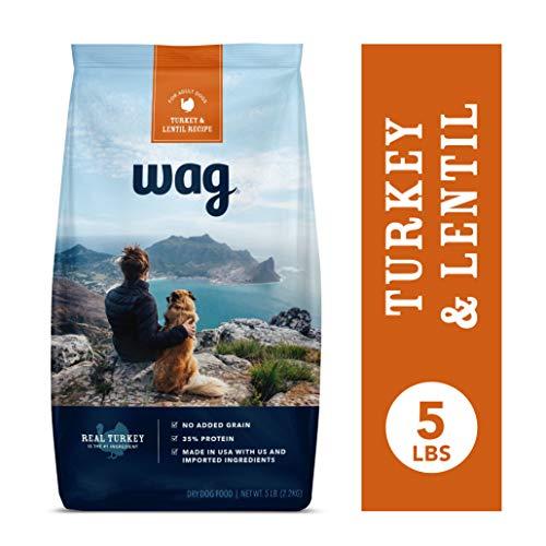 Amazon Brand - Wag Dry Dog Food Turkey & Lentil Recipe (5 lb. Bag) Trial