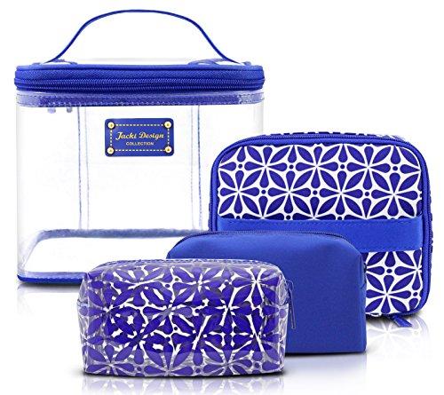 jacki-design-contour-4-piece-cosmetic-bag-set-blue