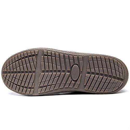 Jackshibo Mujeres Hombre CompletaHombreste Forrado De Piel Impermeable Antideslizante Zapatillas Al Aire Libre Botines De Casa Deslizador De La Casa Azul-bajo Zapatilla