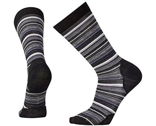 SmartWool Men's Margarita Socks (Black/Medium Gray Heather) Large