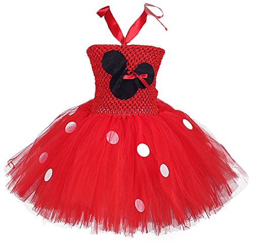 Tutu Dreams Girls' Holiday Dress Up Costumes (L, Red)