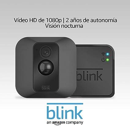 Blink XT Sistema de cámaras de seguridad con detección de movimiento, instalación en paredes, vídeo HD, 2 años de autonomía y almacenamiento en el Cloud - 1 cámara: Amazon.es