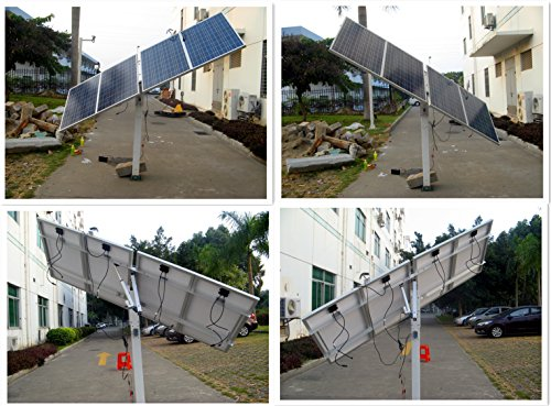 ECO-WORTHY 400 Watts Complete Single Axis Solar Tracking System Solar Sunlight Tracker Kits