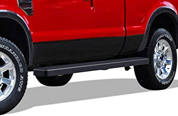 APS Wheel to Wheel iBoard 5 inches Custom Fit 1999-2016 Ford F250 F350 Super Duty Extended Cab 8ft Bed Pickup 4-Door Nerf Bars Side Steps Side Bars