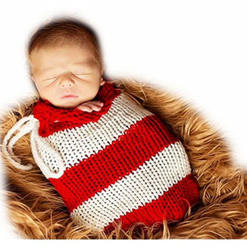 Baby Photography Props Handmade Newborn Sleeping Bag (Red) - 1