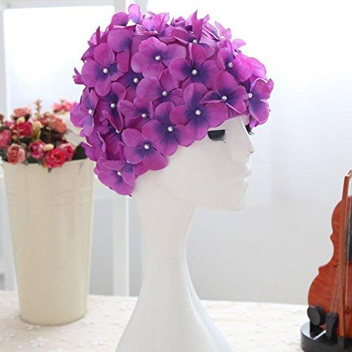 Smartcoco 6 Colors Petal Stylish Swim Cap Hat Bathing Swimming Shower Caps for -