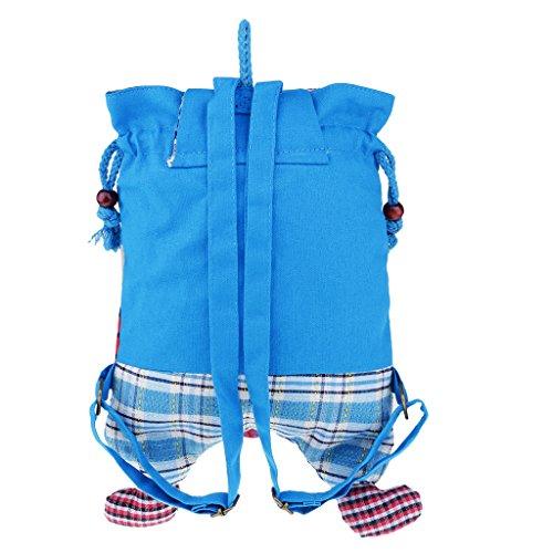 de Dos Loisirs Hibou à Motif Sac Cadeau Coton Homyl Bleu pour Sac Ciel en Enfant zwEXITHqx