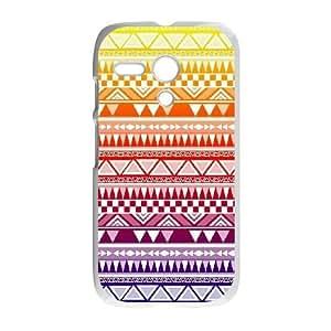 Motorola G Cell Phone Case White Anchor Pattern wxal