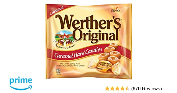 WERTHER'S ORIGINAL Caramel Hard Candy, Hard Candy, Individually Wrapped Candy, Caramel Candy, Caramel Sweets, 9 Ounce Bag