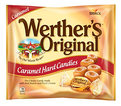 WERTHER'S ORIGINAL Caramel Hard Candy, Hard Candy, Individually Wrapped Candy, Caramel Candy, Caramel Sweets, 9 Ounce Bag