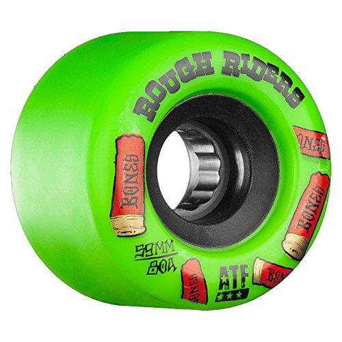 休憩する肉ヘッジボーンズ ウィール/ATF ROUGH RIDERS SHOTGUN GREEN 59mm (ソフトウィール) スケートボード ウィール スケボー ソフト ウィール クルーザー クルージング