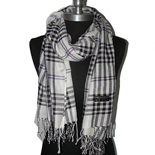 Men's Ice Skating Costumes Uk (White_New Womens Soft Warm Scarf Plaid (US Seller))