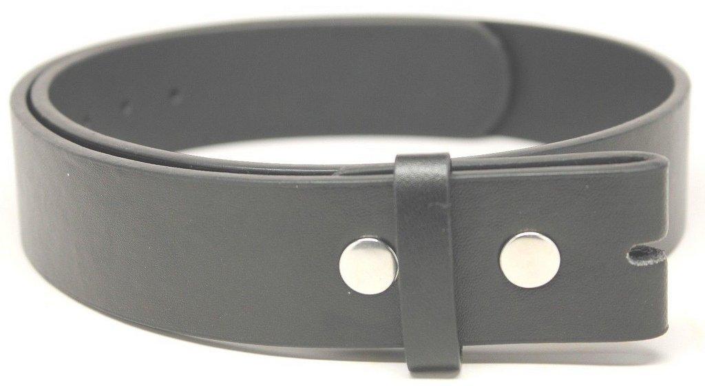 Deal Fashionista Men's Plain Leather Strap Snap On Belt M Black