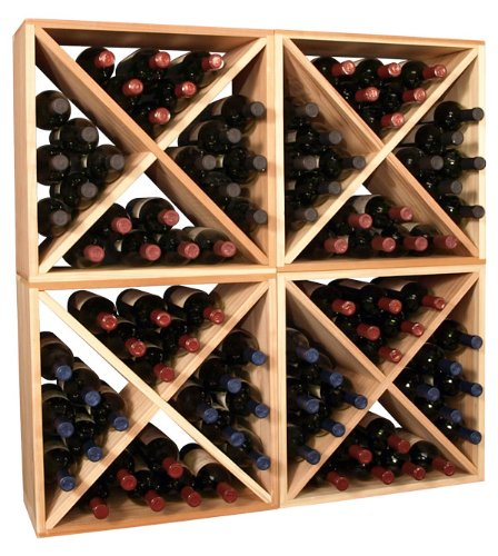 Amazon.com: Wooden 96 Wine Bottle Wine Box Storage Cubes Collection (4  Cubes - Ponderosa Pine): Kitchen & Dining
