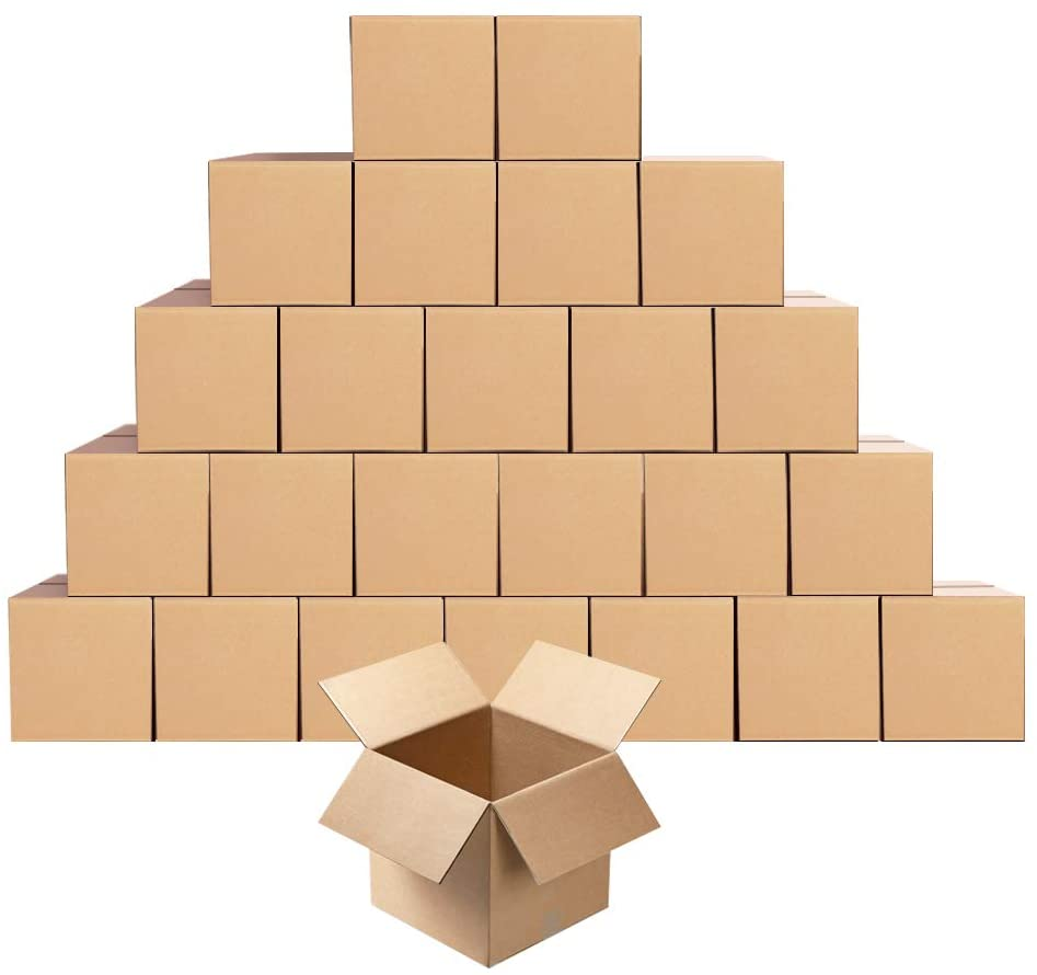 25 12X8X5 Packing Mailing Moving Shipping Cardboard Corrugated Boxes Cartons