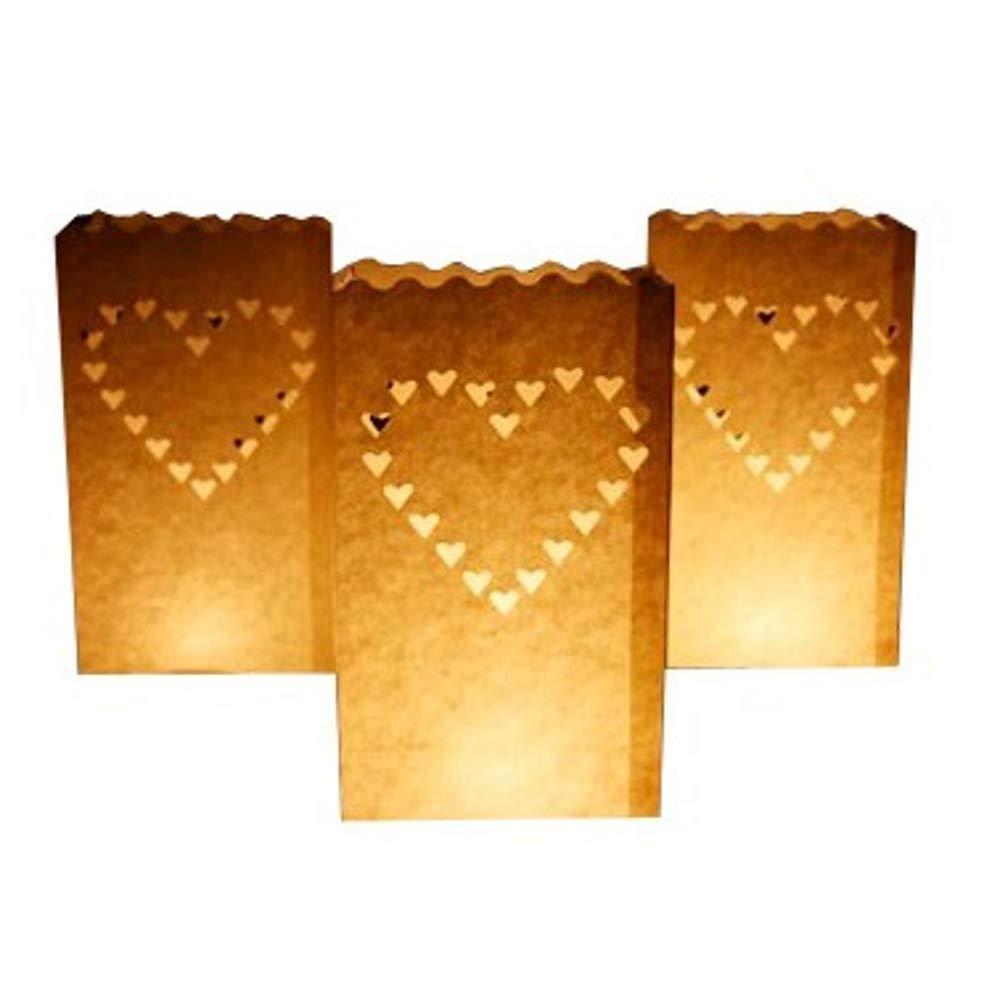 Sacchetti portacandele con motivo a forma di cuore, in confezione da 50 pezzi Sky Lanterns Ltd