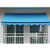 Angerer 2314/9400 Klemmmarkise Dralon Nr. 9400, Blau, 150 cm
