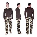 Cherokee Men's 2 Piece Pajama Set, Camo Jays, M