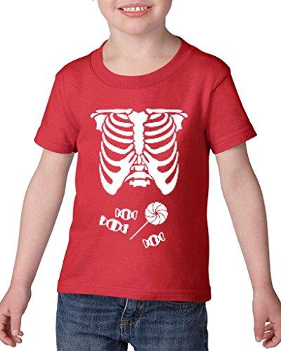 [Xekia Kids Hallowen Costume Skeleton with Candies Halloween Fashion Children Gifts Toddler Kids T-Shirt Tee Clothing 5T] (Hallowen Contact Lenses)
