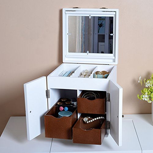 Magic Case with Large Mirror for Jewelry Jewelry Armoires