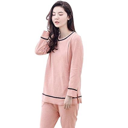 41ea6d7a5d77 Pigiami e camicie da notte Maternità Pigiama Gravidanza Cotone Sleepwear  Manica Lunga O-Collo Gravidanza. Scorri sopra l immagine per ingrandirla