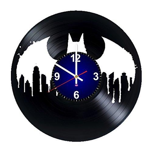 Batman Arkham Origins New 52 Costume (Batman Logo - Gift For Boys And Girls - Art Vinyl Record Wall Clock - DC Comics Living Room Or Kids Room Decor)