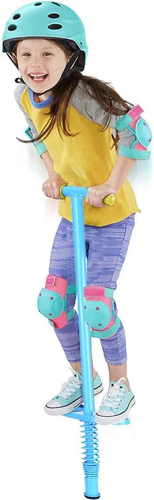 Pogo Stick for Kids Support 55-132 Pounds Mosunx Children Jumper Outdoor Fun Jumping Stick Balance Training Fitness Practice Toy for Boys and Girls Supports 33-57 Lbs Blue A, for Ages 5 /& up