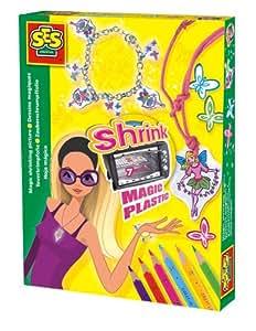 SES Deutschland Shrink Magic Plastic 14963 - Set para crear bisutería, plástico mágico, diseño elfos [importado de Alemania]
