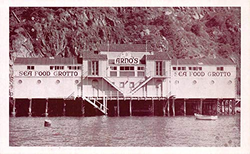 Grotto Collection (Postcard Arno's Seafood Grotto in Catalina Island, California~119897)