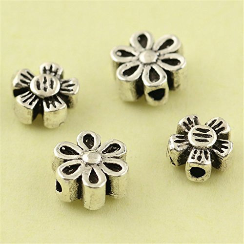 (MFMei Thai Sterling Silver Flower Spacer Beads (CY160) (B))