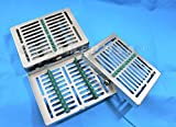 1 GERMAN DENTAL AUTOCLAVE STERILIZATION CASSETTE RACK BOX TRAY FOR 10 INSTRUMENT WITH LOCK -A+ QUALITY