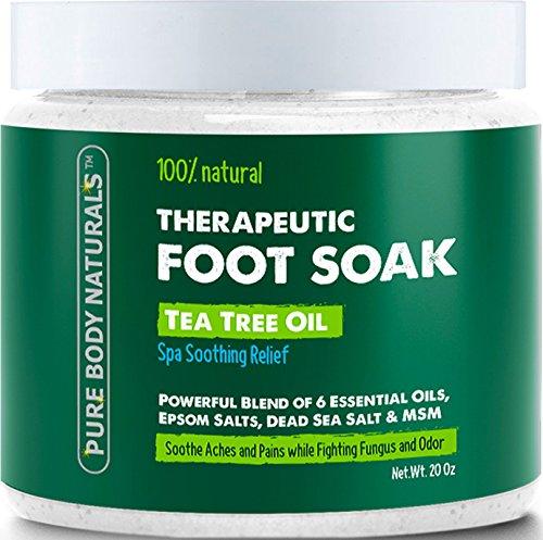 Foot Soak with Tea Tree Oil and Epsom Salt - 20 oz - Tea Tree Essential Oils