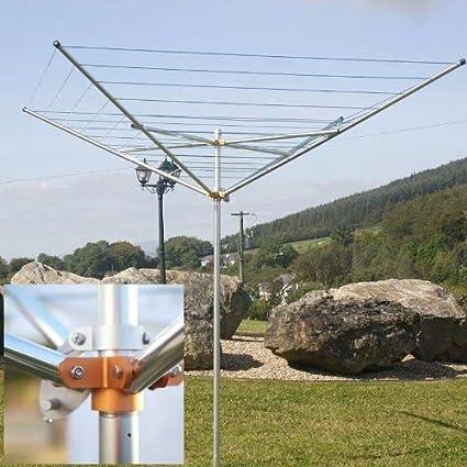 Breezecatcher TS4 – 36 m 7 líneas al Aire Libre Paraguas tendedero, Aluminio, ...