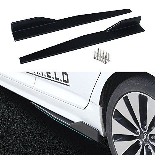 - DTOUCH RACING Side Skirts Fits Universal Vehicles Black 860mm Exterior Side Bottom Line Extensions Splitter Lip Car Diffusers