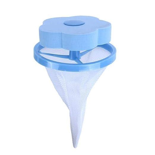 Sacchetto Galleggiante per Lavatrice per Pelucchi 2 Pezzi BrightBlue con Filtro per Capelli