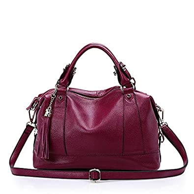 b4574ec4ae67 HITSAN INCORPORATION Natural Cowhide Women Handbag Genuine Leather Bags  Ladies Big Shoulder Handbags Fashion Women Messenger