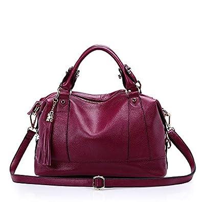 HITSAN INCORPORATION Natural Cowhide Women Handbag Genuine Leather Bags  Ladies Big Shoulder Handbags Fashion Women Messenger 35f5eee97edb9
